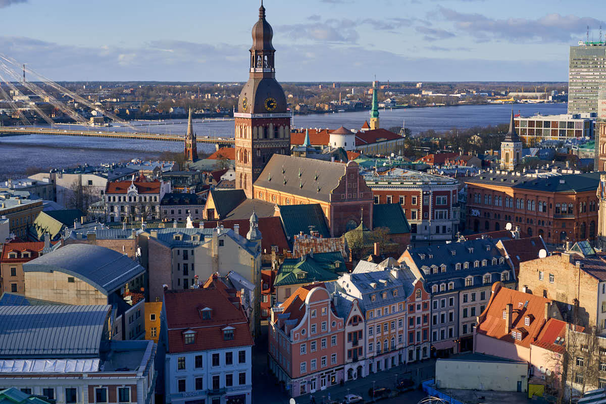 View of Riga Old Town in Latvia