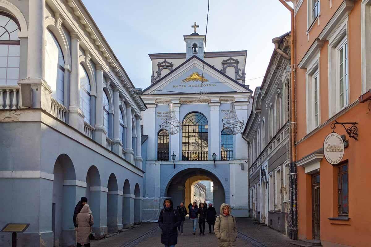 Gate of Dawn in Vilnius Lithuania