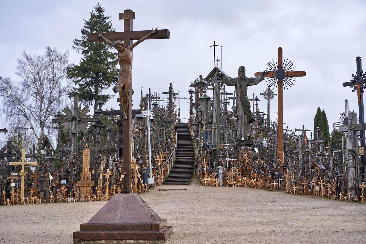 Hill of Crosses near Siauliai in Lithuania
