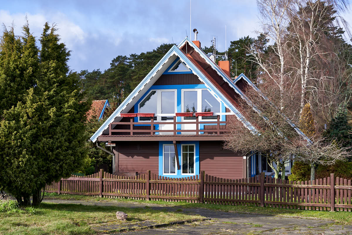 Traditional house on the Curonian Spit in Nida