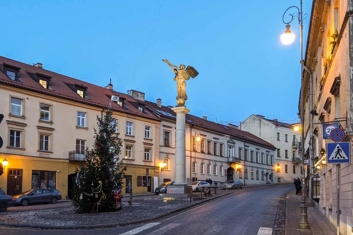 Uzupis Angel in Vilnius Lithuania