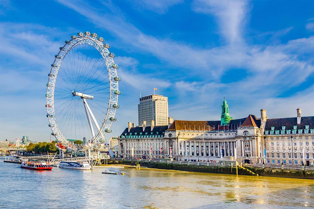 London Eye and the South Bank