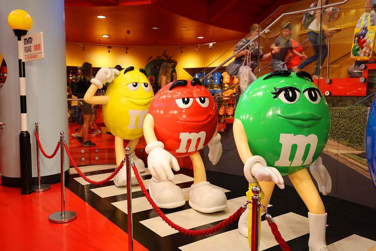 M&M's London World store at Leicester Square