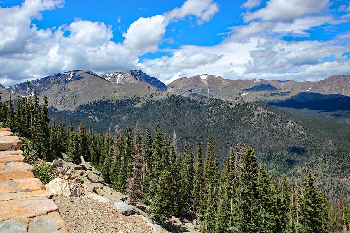 Many Parks Curve Overlook in Rocky Mountain National Park USA