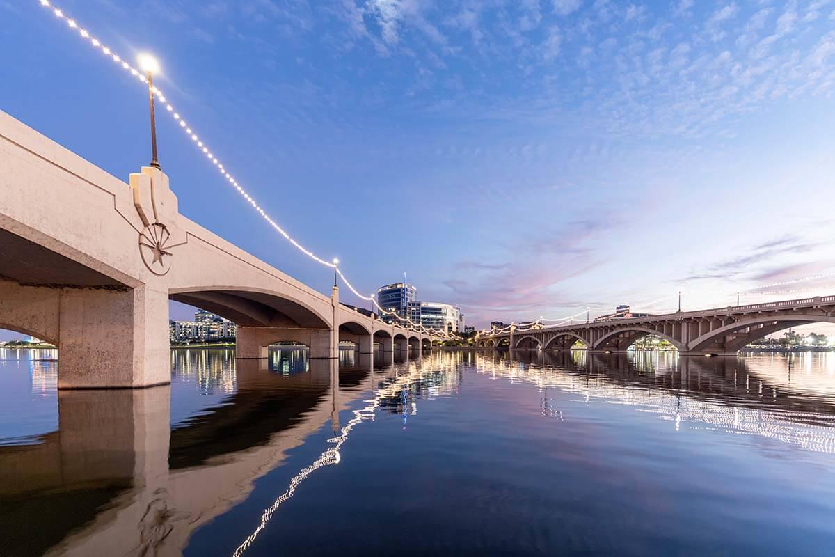 Mill Avenue bridges in Tempe Arizona