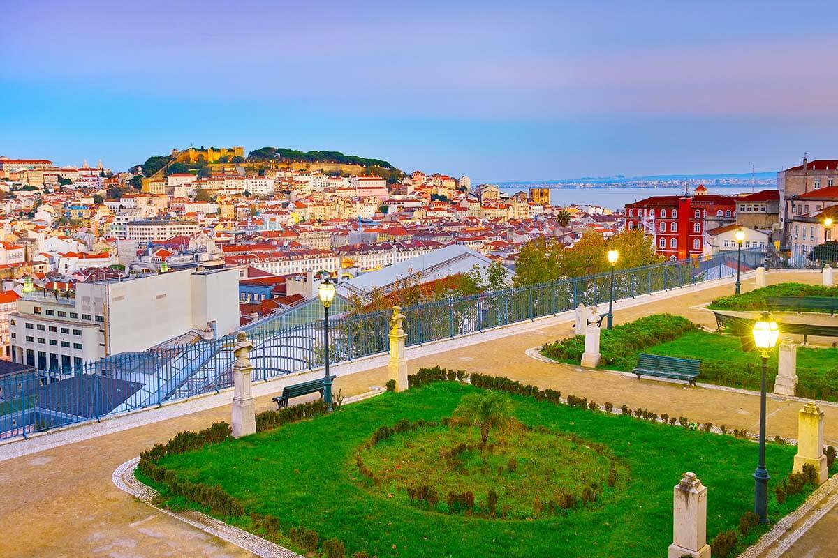 Miradouro Sao Pedro de Alcantara in Lisbon