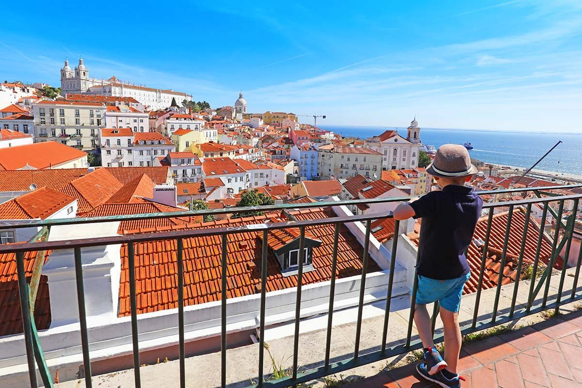 Miradouro das Portas do Sol - one of the best viewpoints in Lisbon