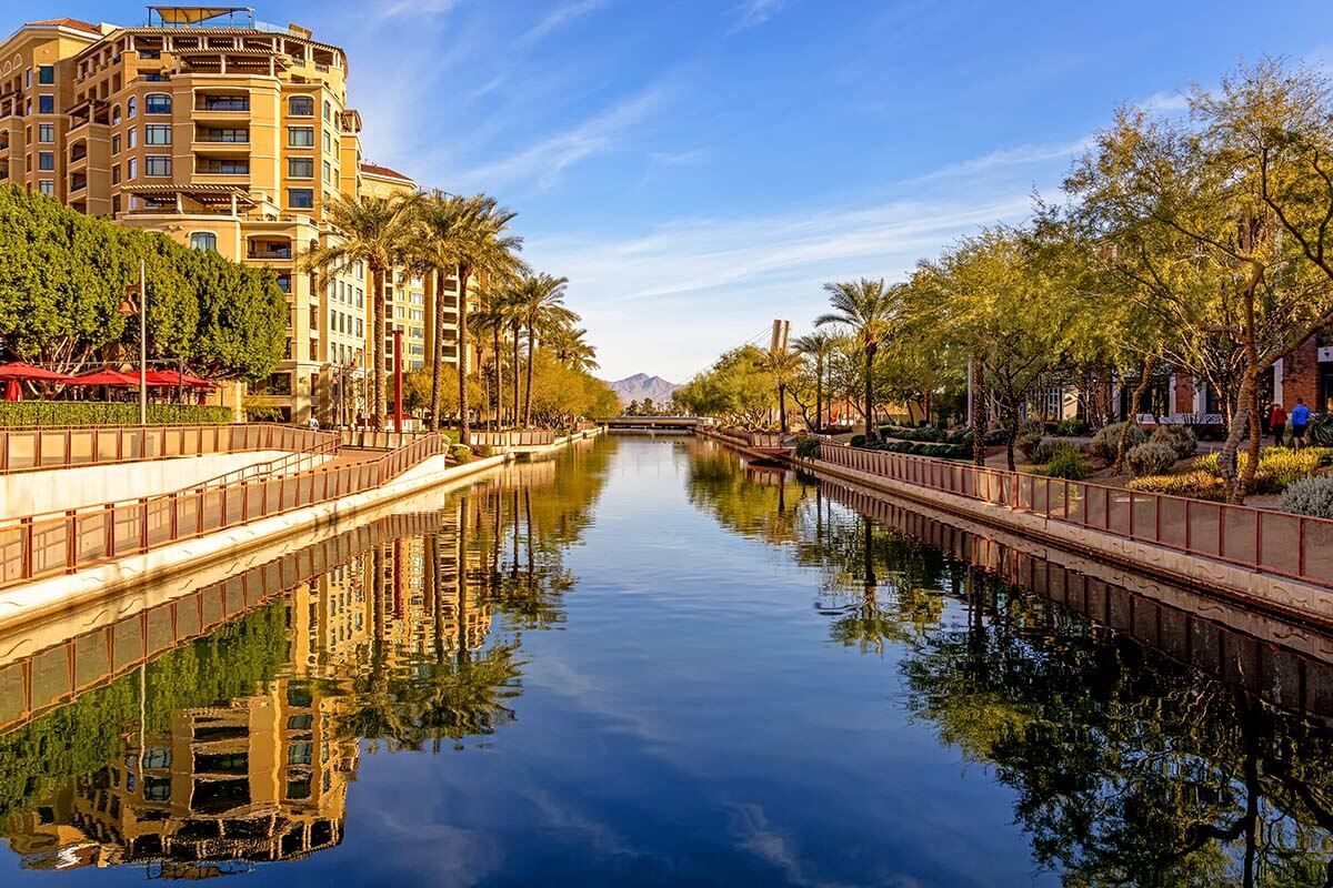 Waterfront area in the Old Town Scottsdale