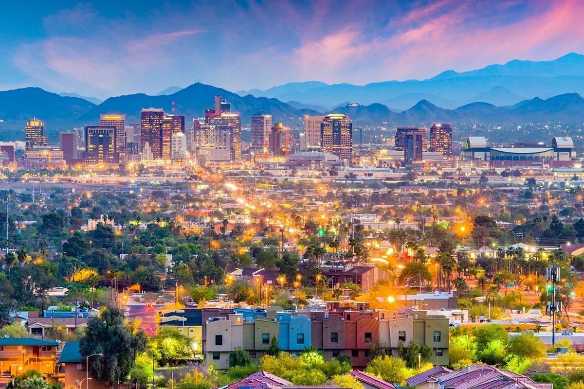 Phoenix AZ city skyline
