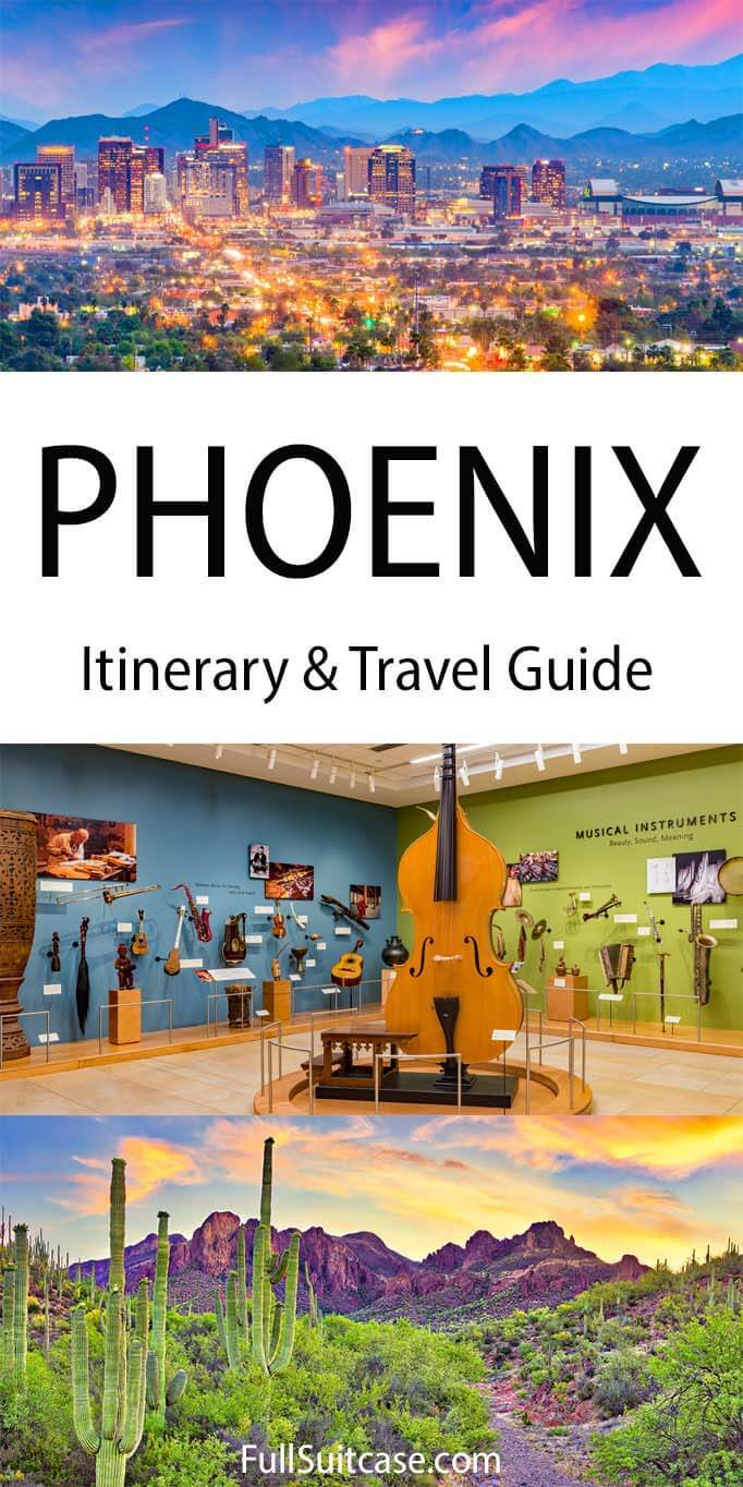 Phoenix itinerary and travel guide to the Phoenix Metropolitan Area in Arizona USA