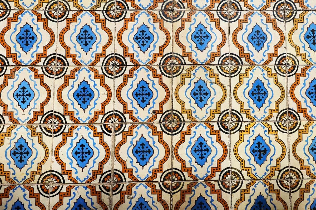 Portuguese azulejo tiles in Lisbon