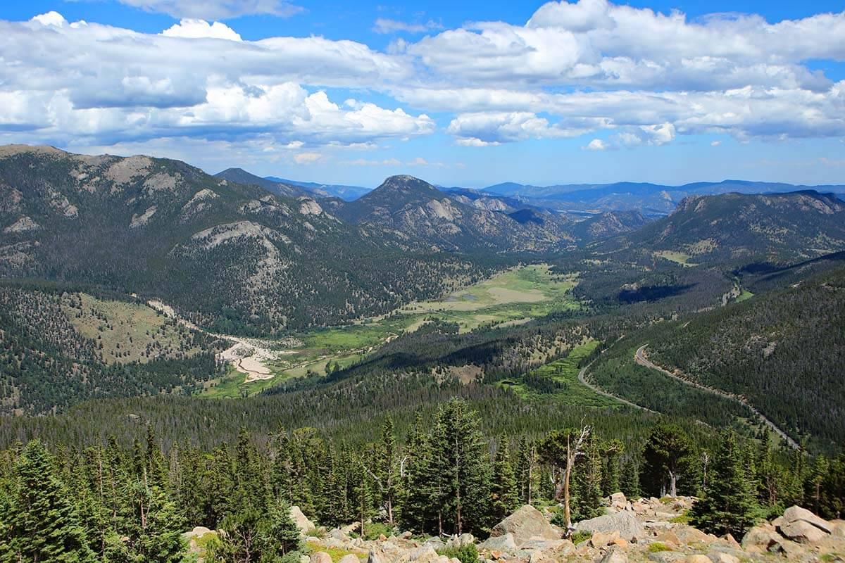 Rainbow Curve Overlook in Rocky Mountain National Park Colorado
