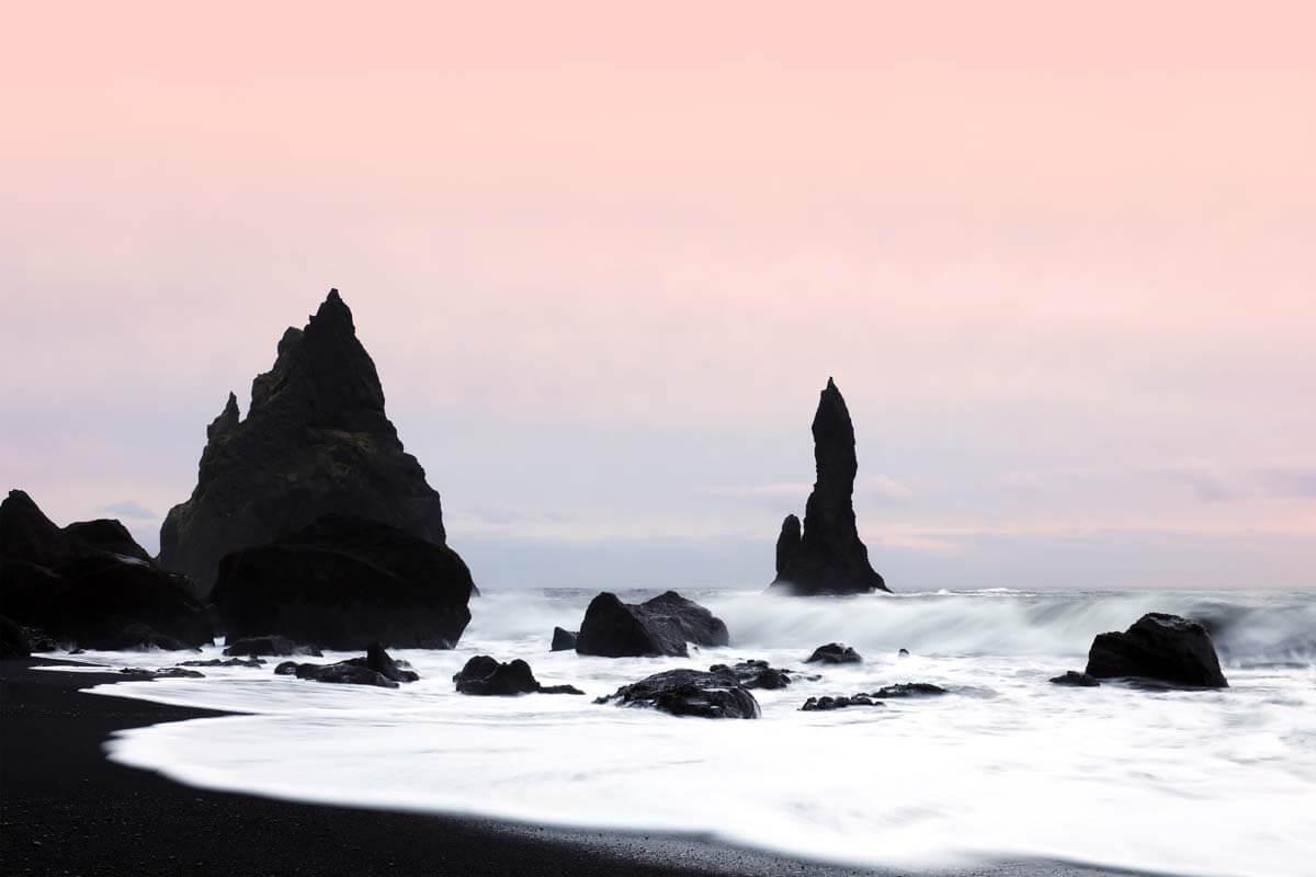 Reynisfjara black sand beach in Vik