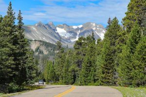 Road from Denver to Rocky Mountain National Park