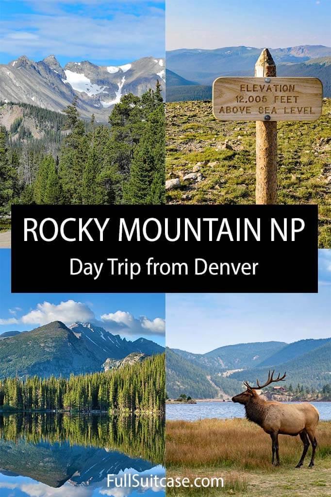 Rocky Mountain National Park day trip from Denver Colorado