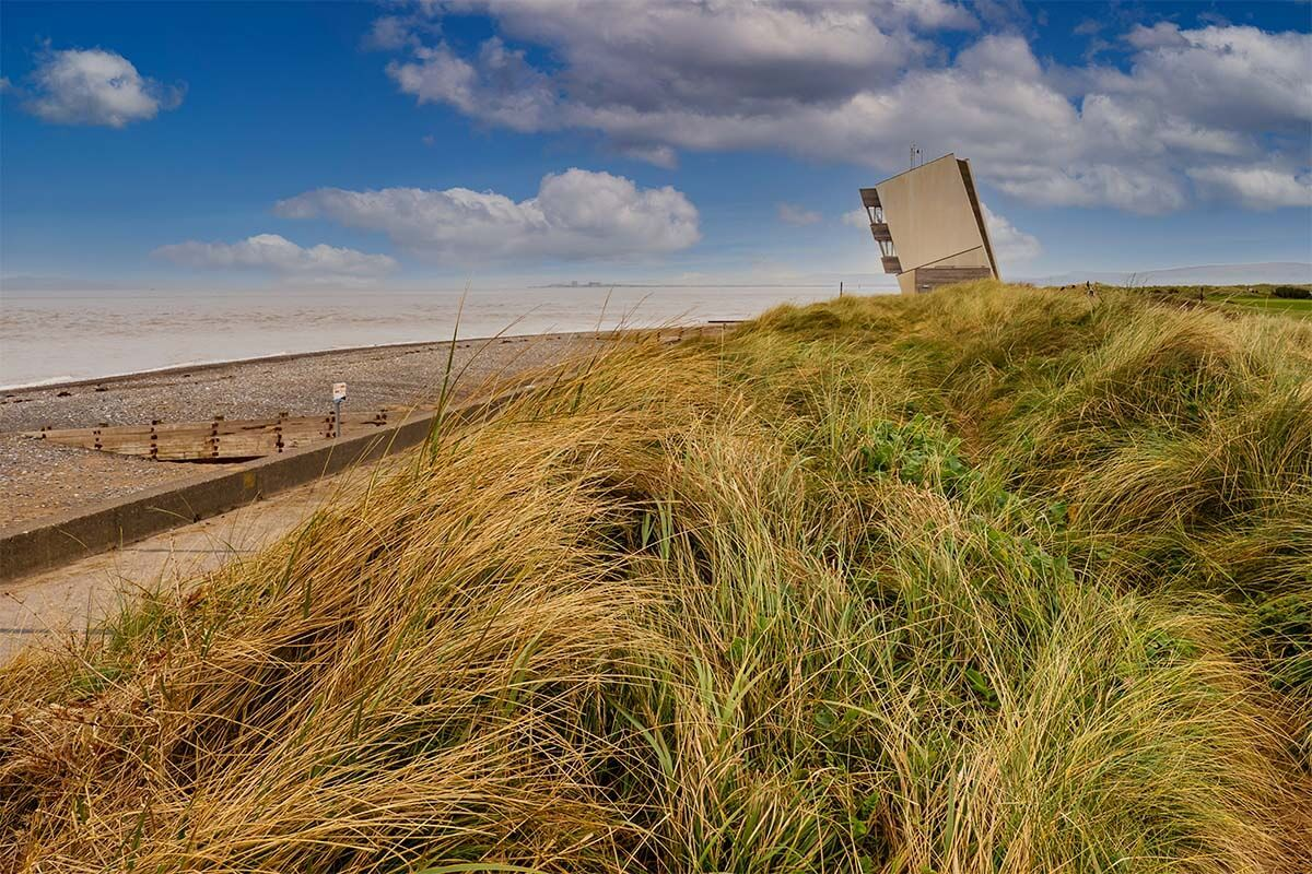 Rossall Point Watch Tower in Fleetwood UK