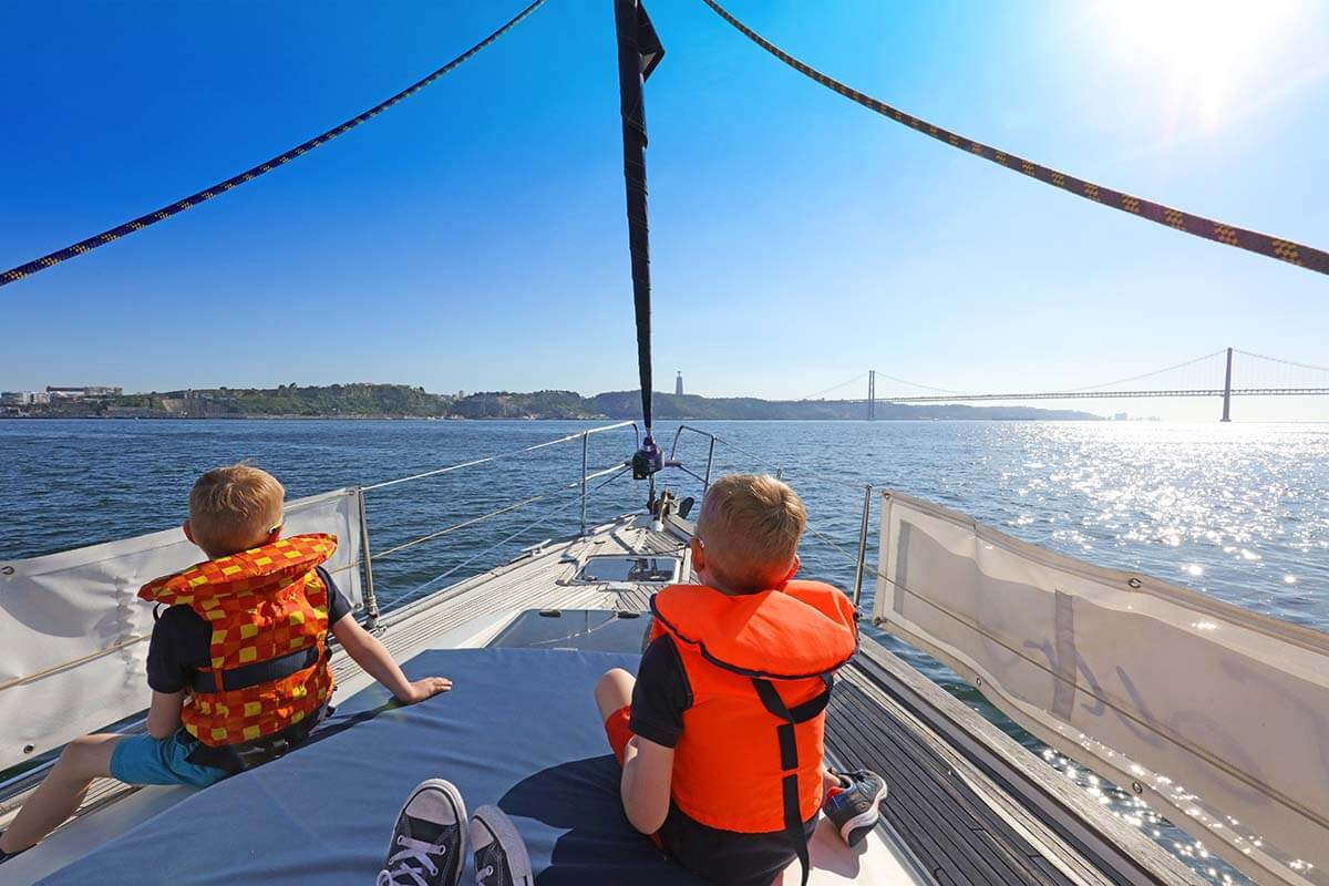 Sailing on the Tagus River in Lisbon