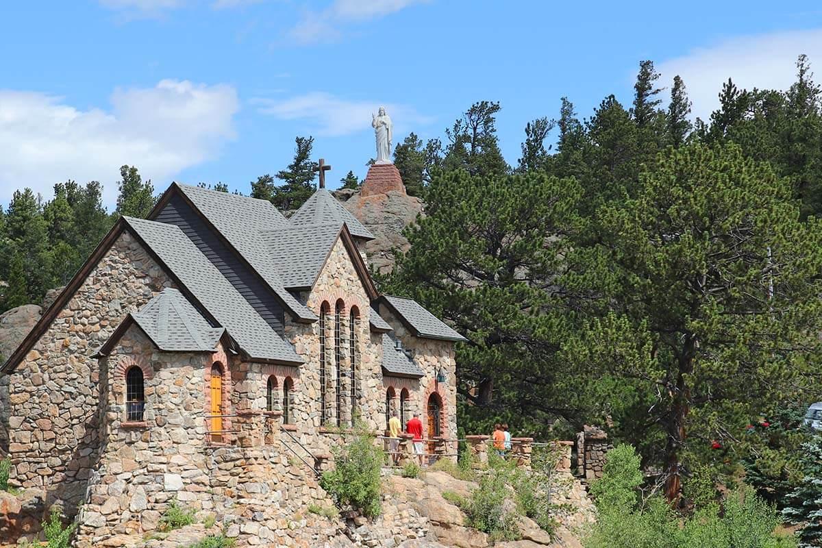 Saint Catherine's Chapel on the Rock near Estes Park Colorado