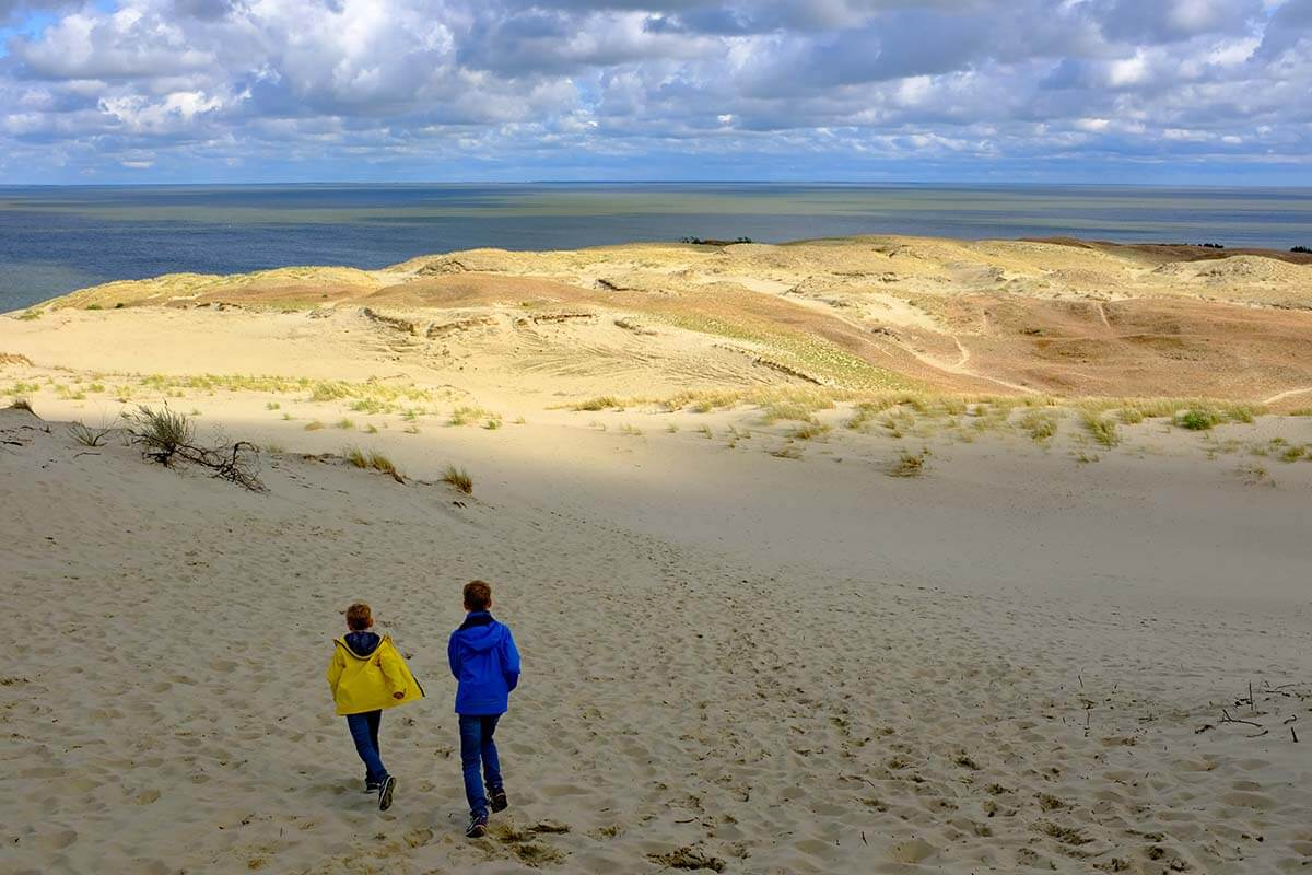 Sand dunes in Nida Lithuania