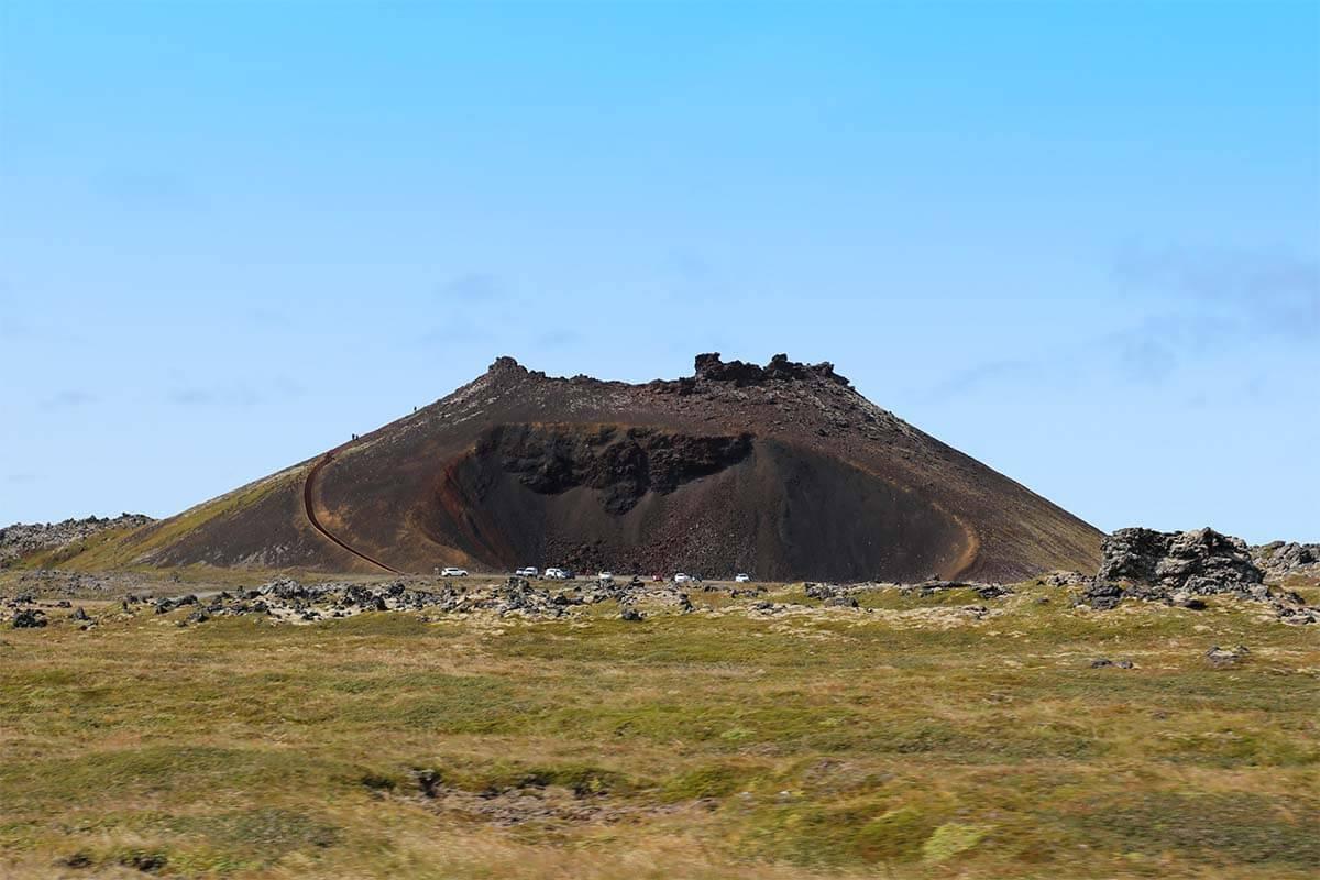 Saxholar volcano in Iceland