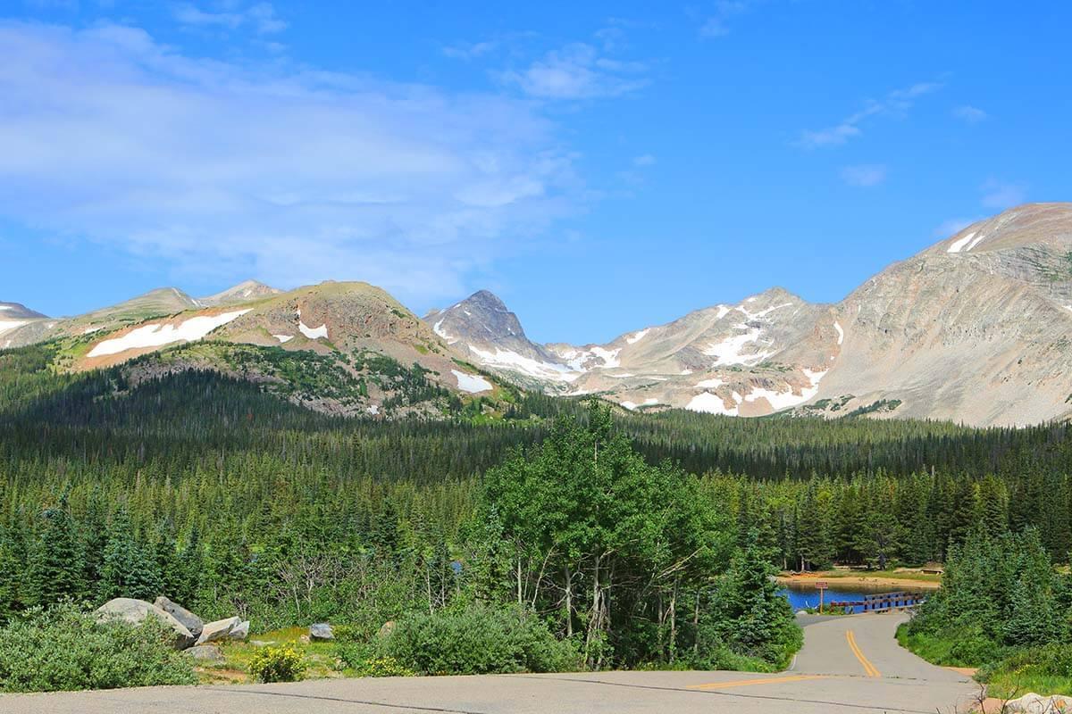 Scenery along the Peak to Peak scenic highway in Colorado