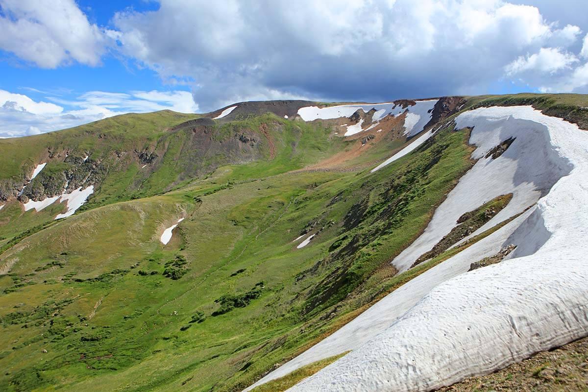 Scenery near Alpine Visitor Center in Rocky Mountain National Park Colorado USA
