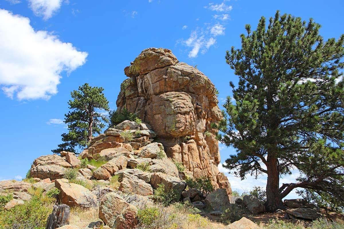 Scenery near Estes Park in Colorado
