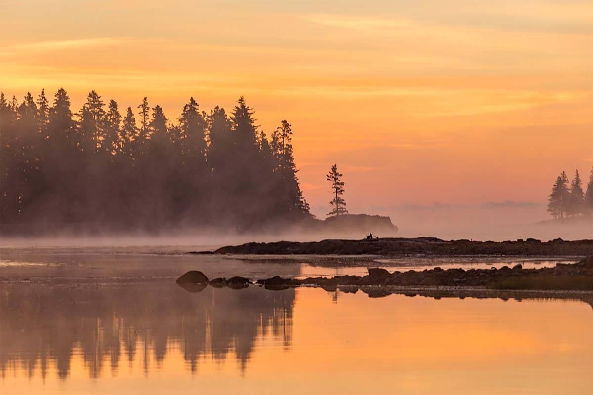 Schoodic Peninsula in Acadia National Park USA