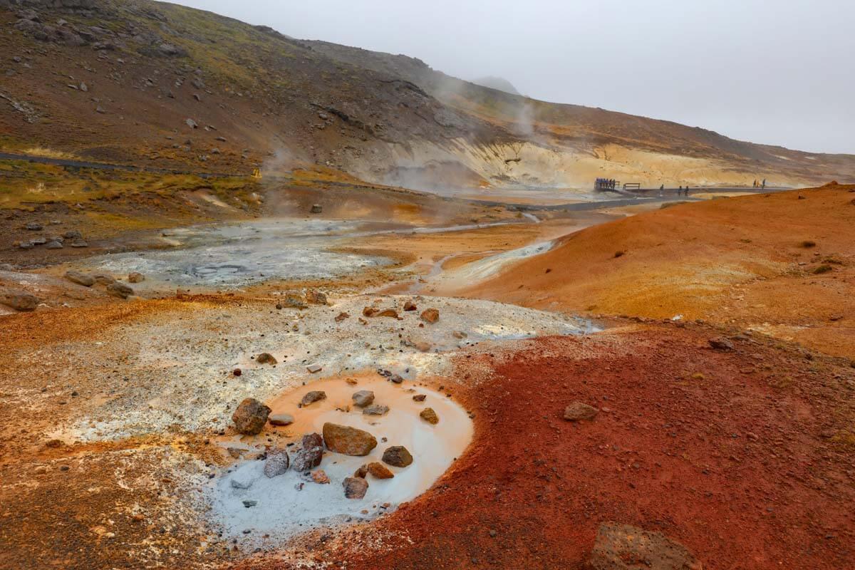 Seltun Geothermal Area in Reykjanes Iceland