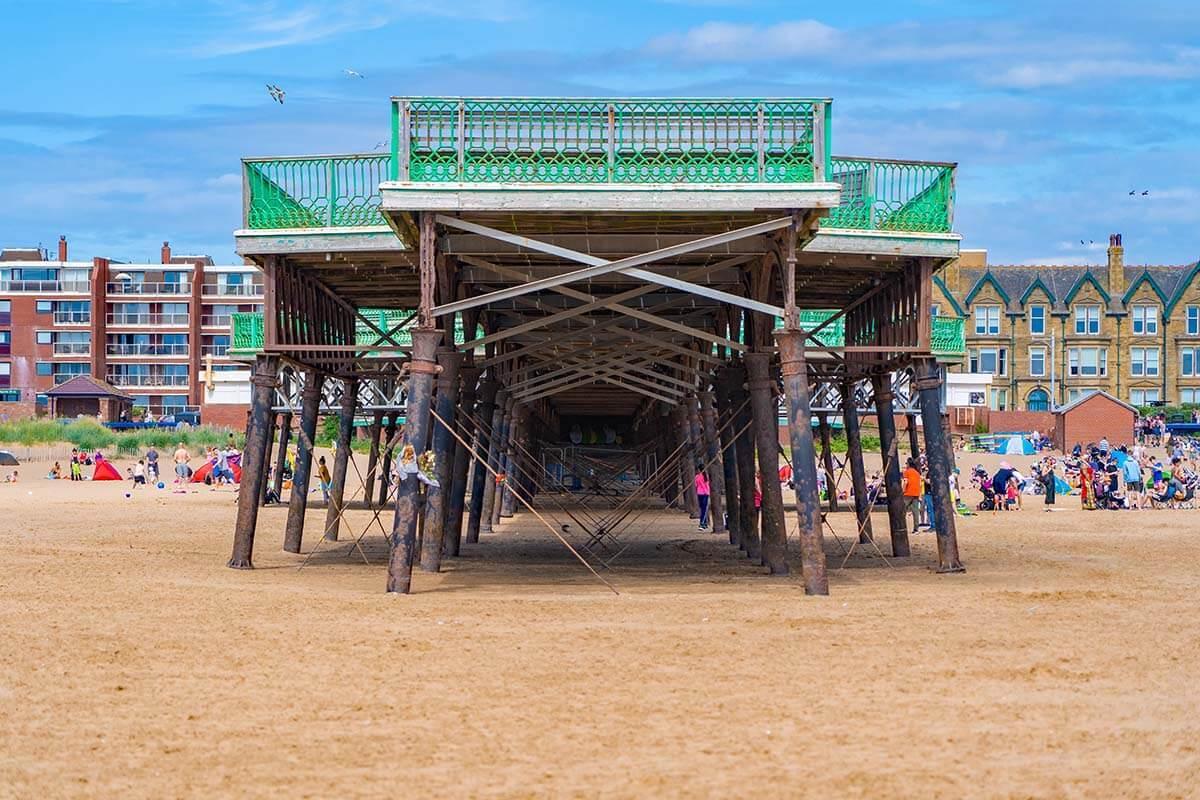 St Anne's Pier in Lytham St Anne's near Blackpool UK