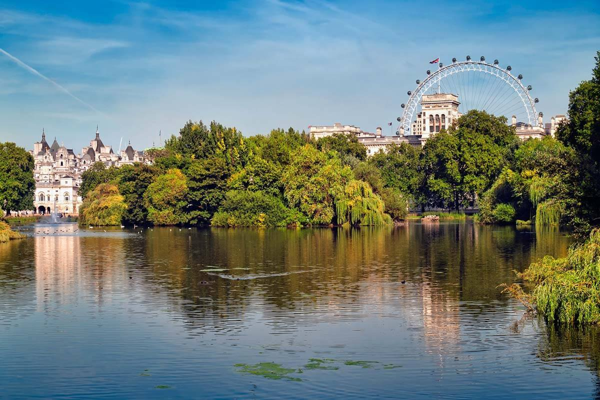 St Jame's Park in central London