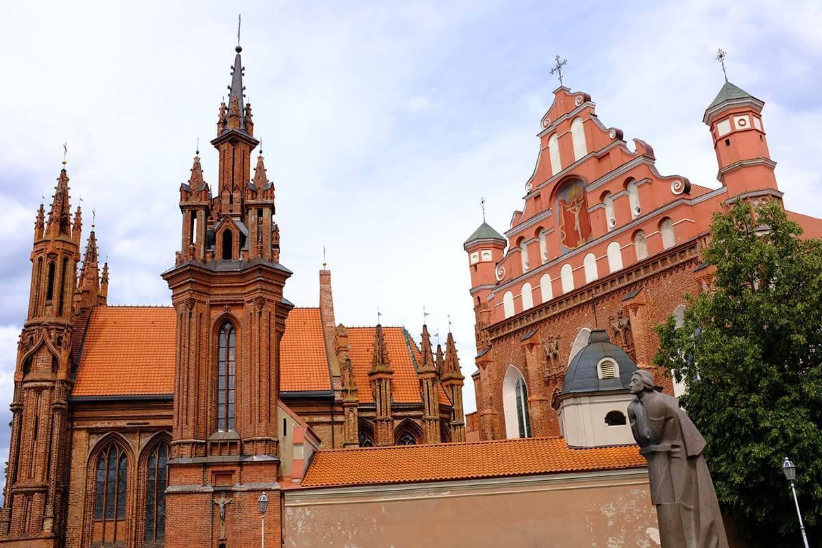 St. Anne's Church in Vilnius Lithuania