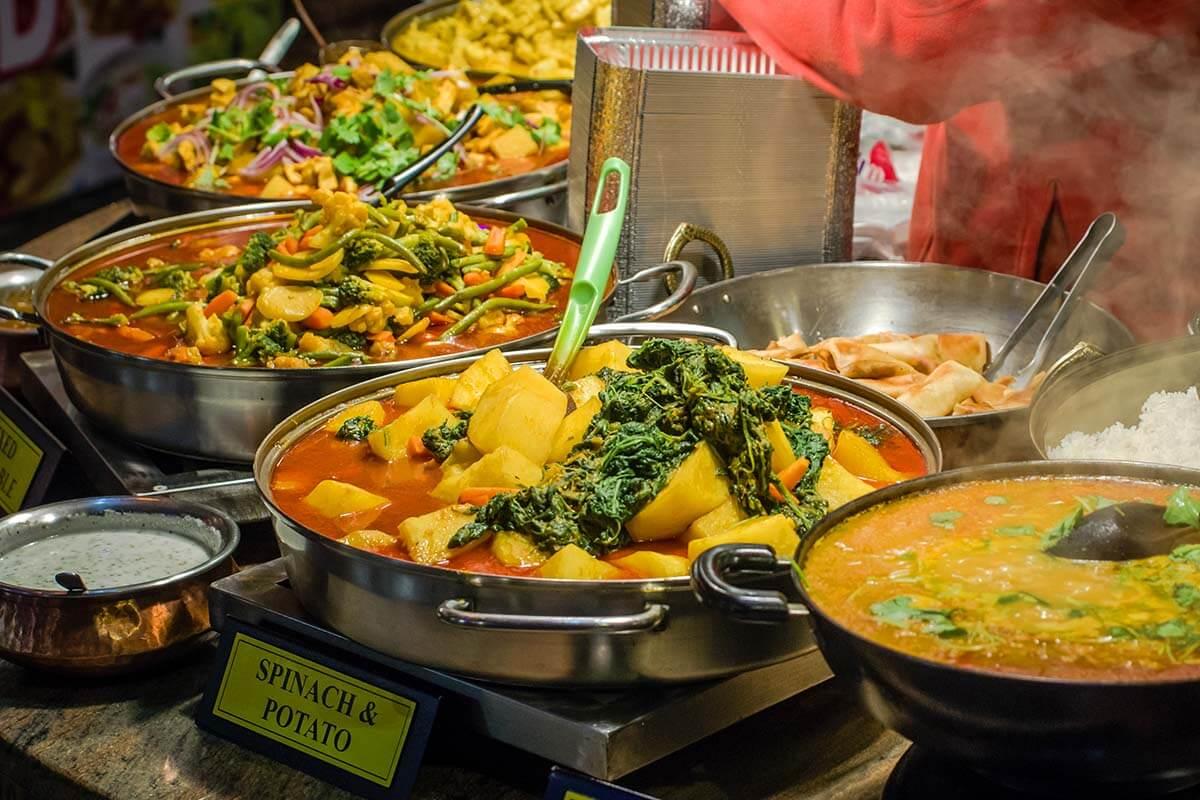 Street food at Camden Market in London