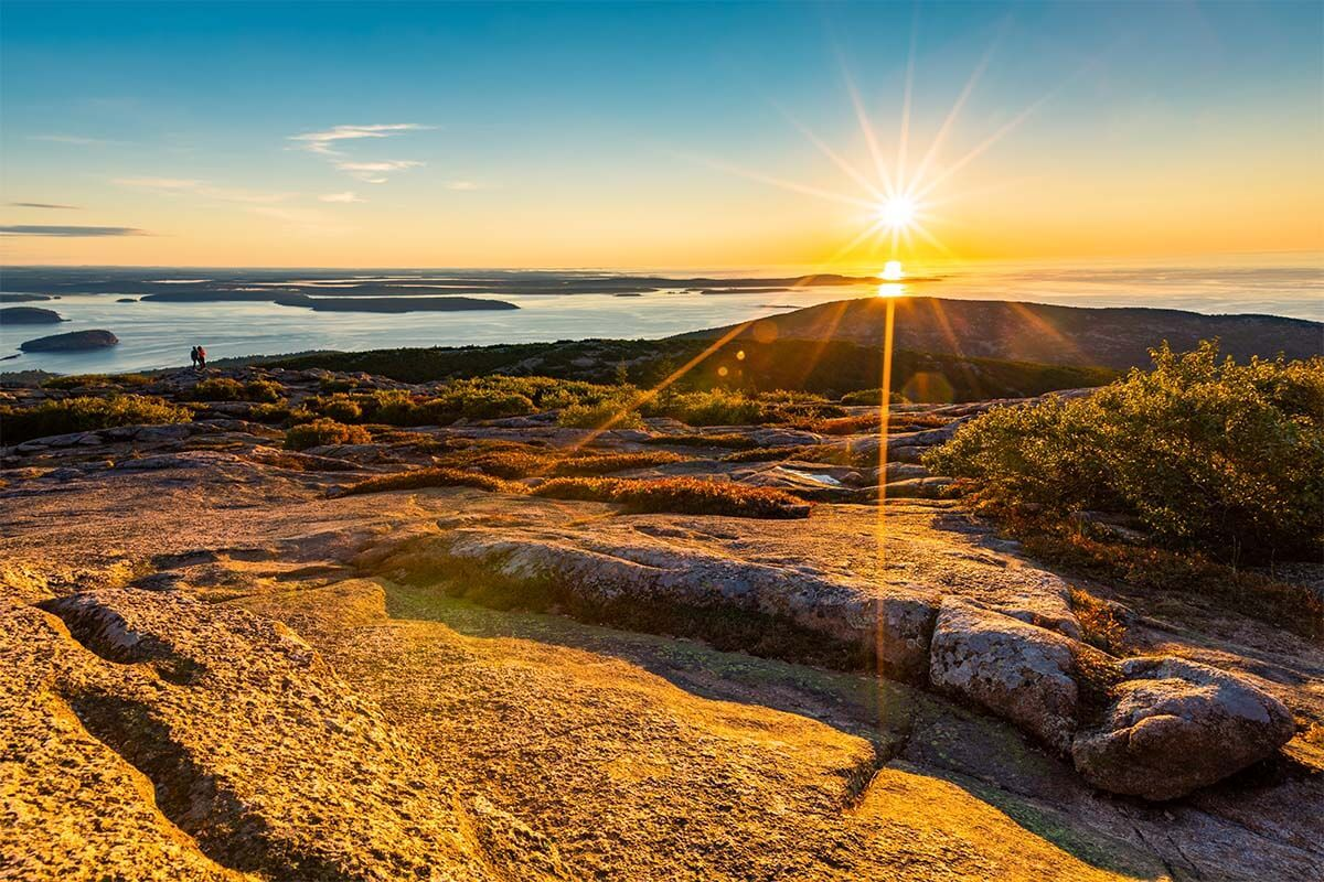 Sunrise at Cadillac Mountain in Acadia National Park