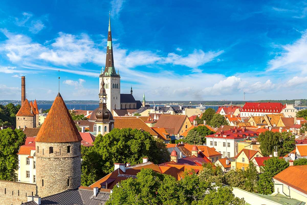 Tallinn Old Town as seen from Toompea Hill