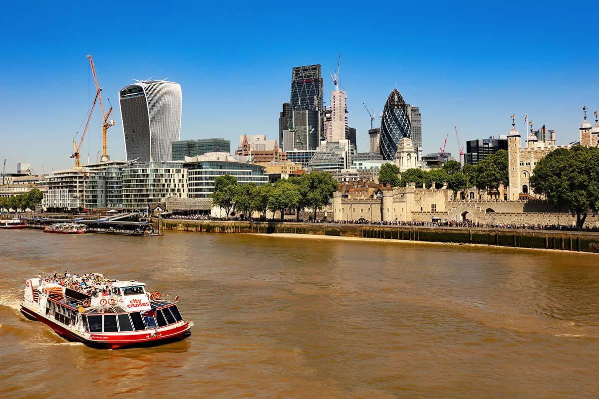 Thames river cruise in London