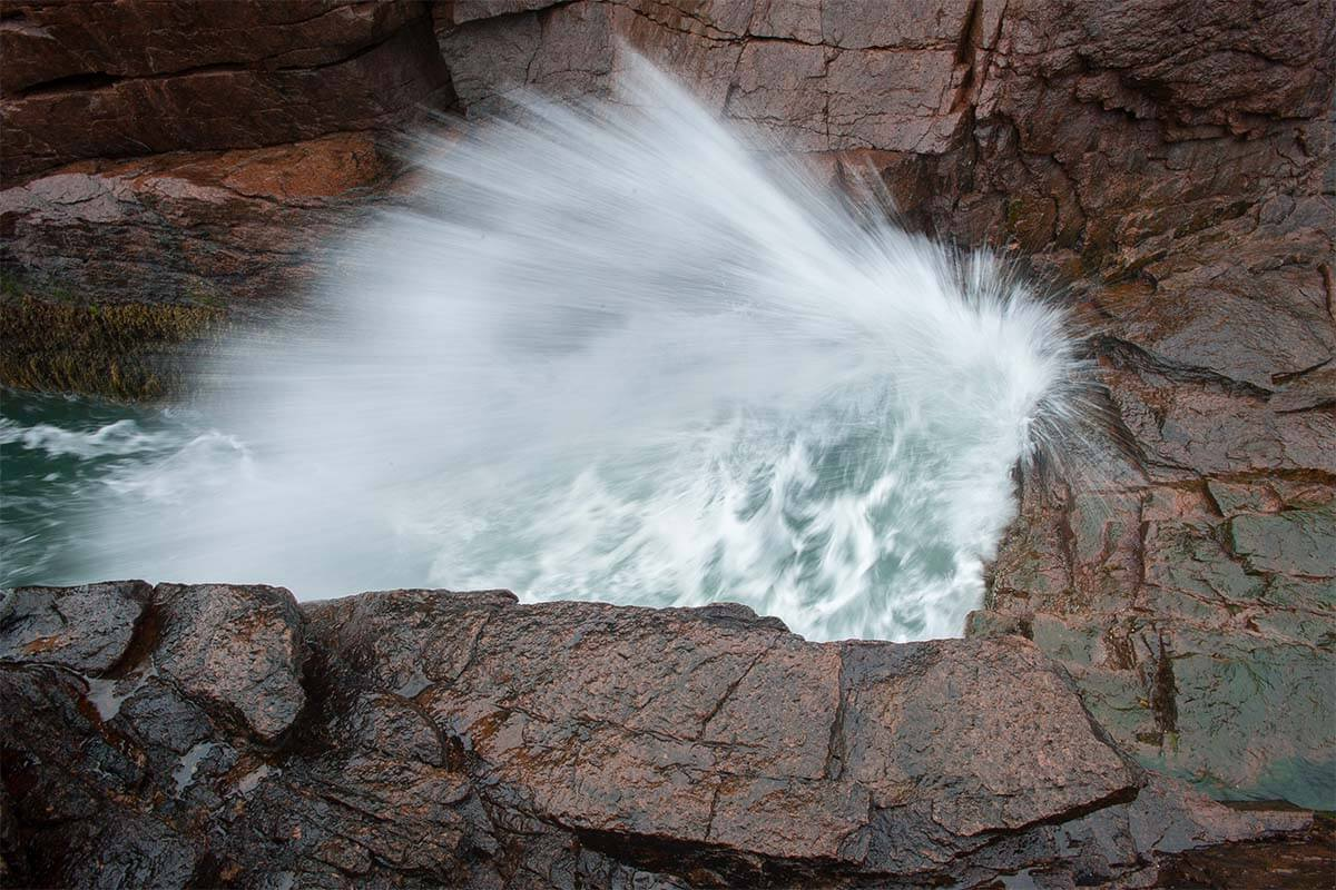 Thunder Hole in action - Acadia National Park