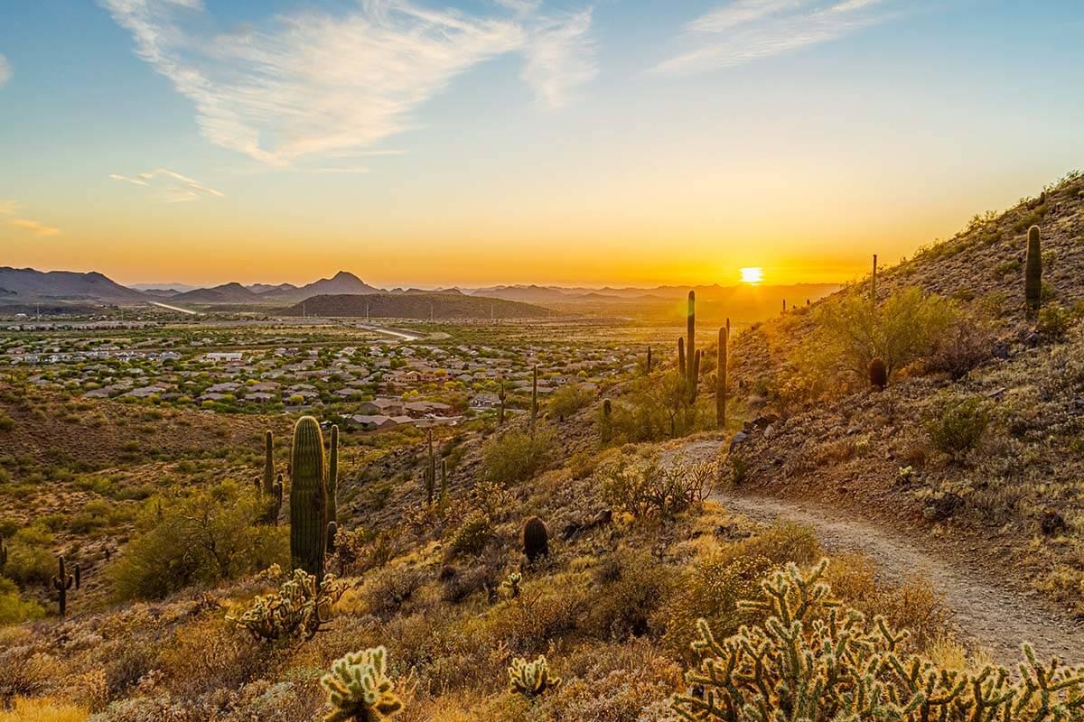 Phoenix metropolitan area in Arizona