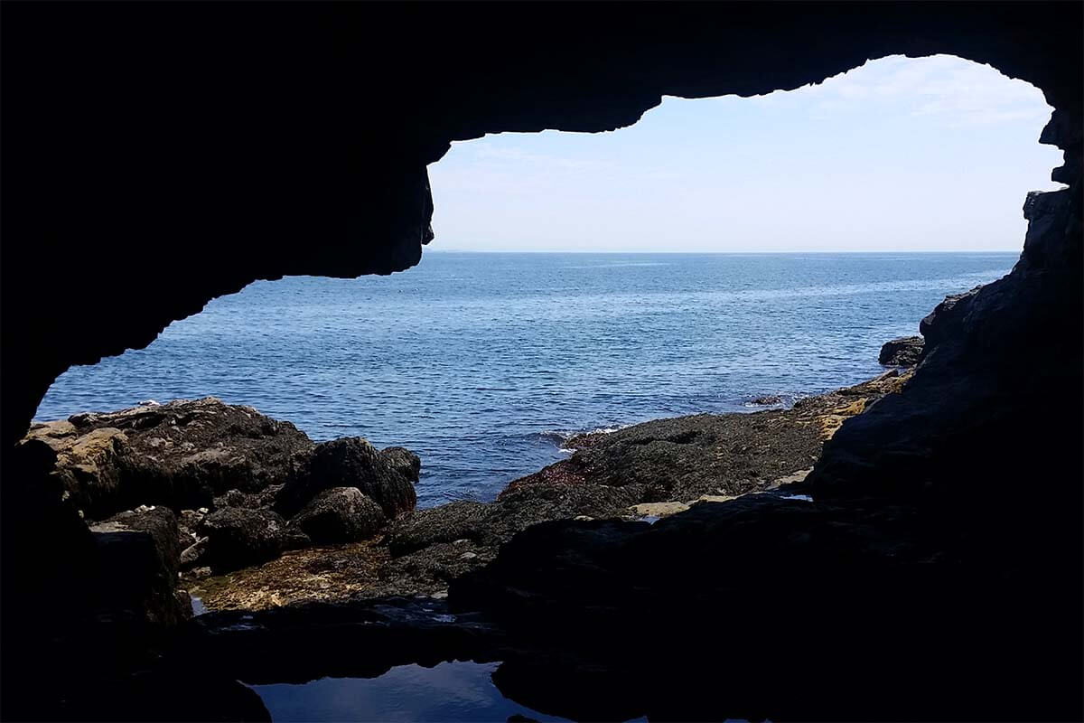 View from Inside Anemone Cave in Acadia National Park