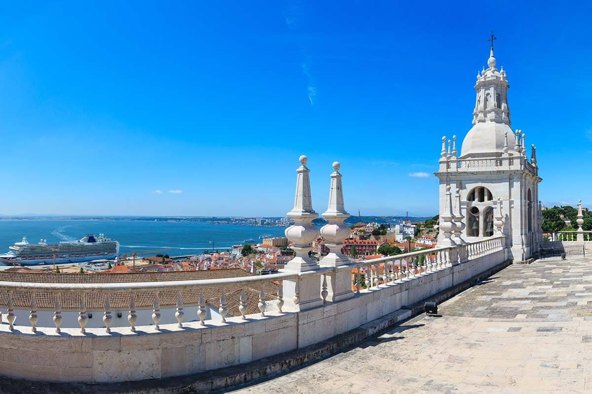 View from the roof of Sao Vicente de Fora church in Lisbon