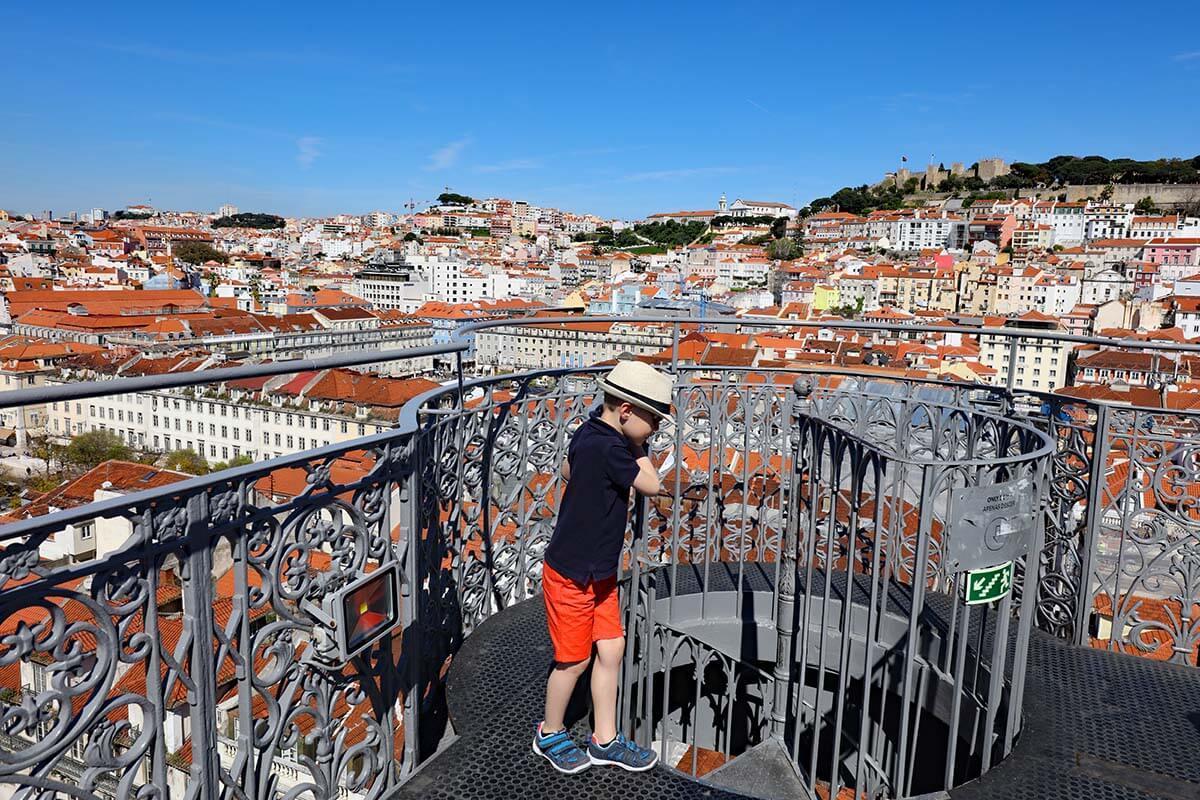 Viewing platform at Santa Justa Lift in Lisbon Portugal