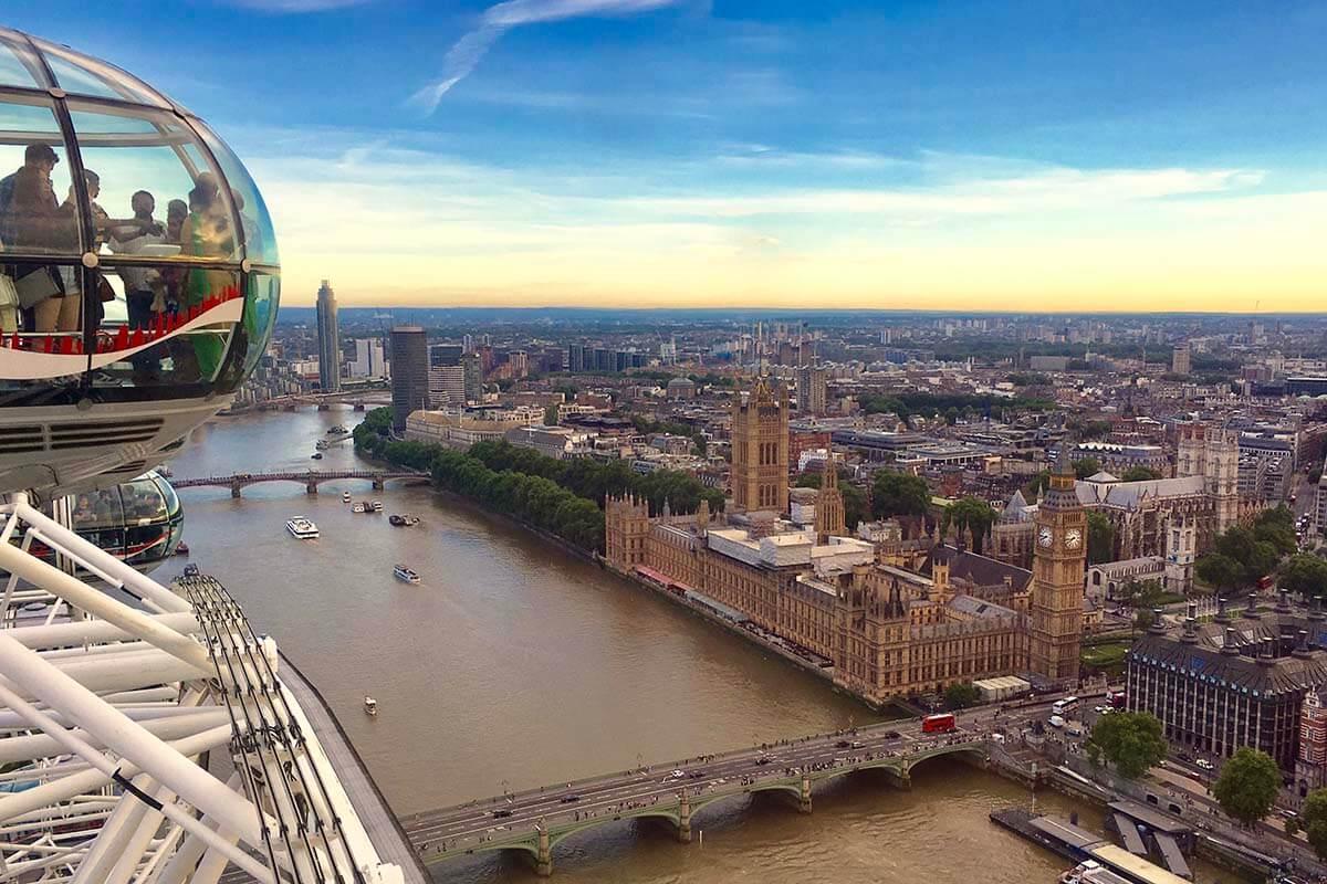 Views from London Eye