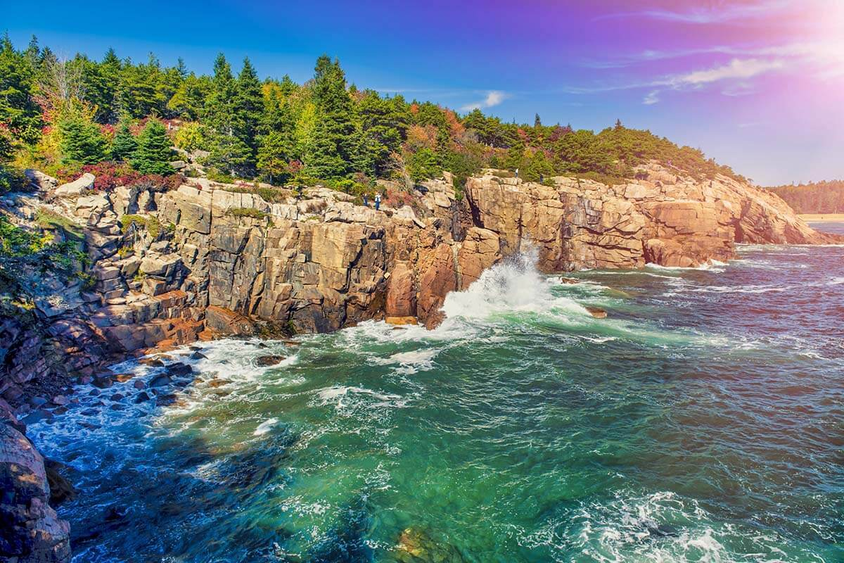 Beautiful coastlines of Acadia National Park