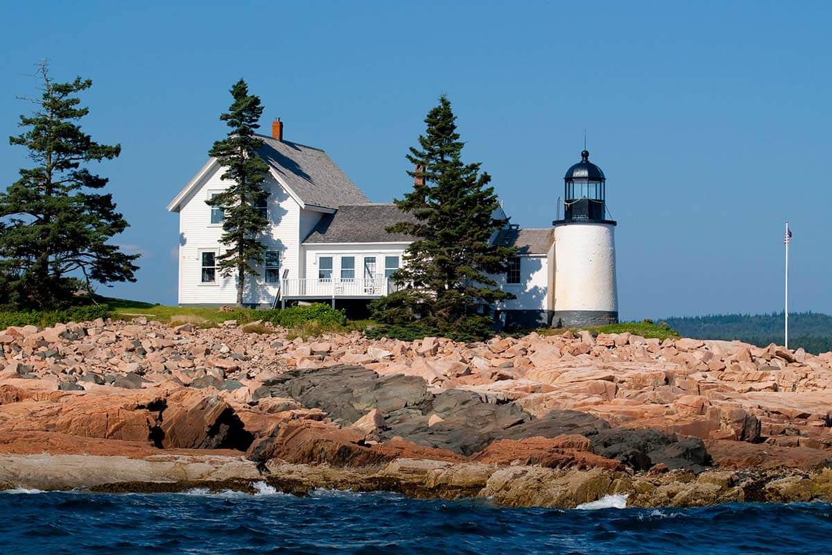 Winter Harbor Lighthouse in Acadia National Park