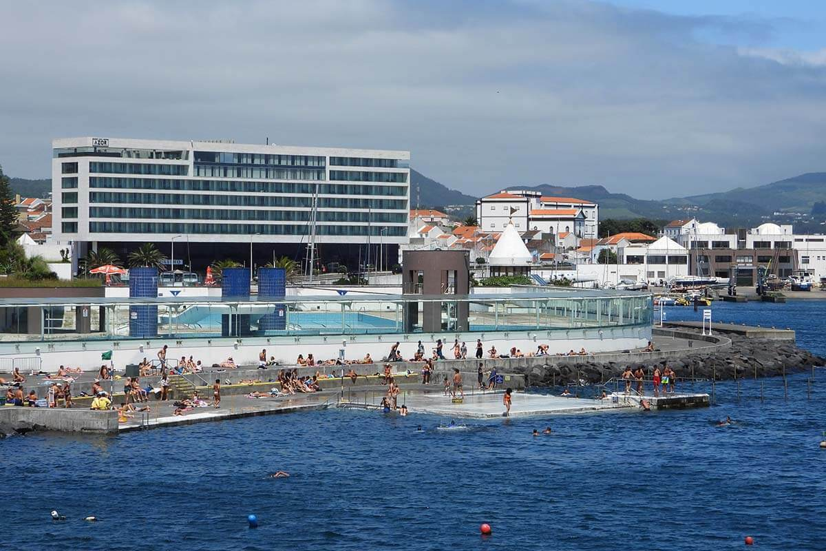 Best things to do in Ponta Delgada - outdoor swimming pool at Portas do Mar