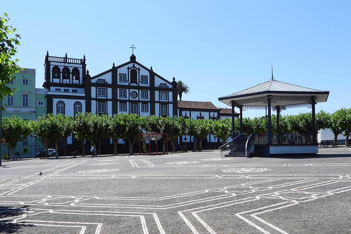 Campo de Sao Francisco town square in Ponta Delgada, Azores