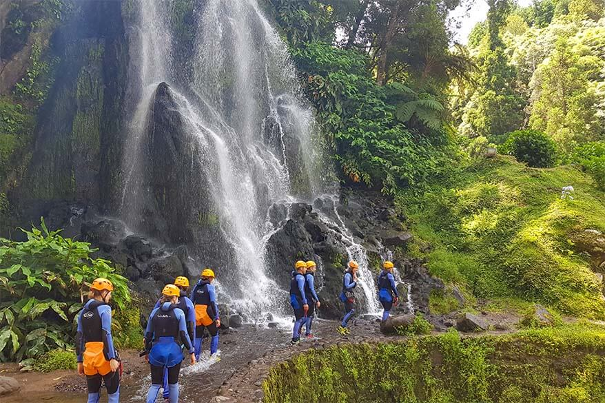 Canyoning tour in Sao Miguel Azores