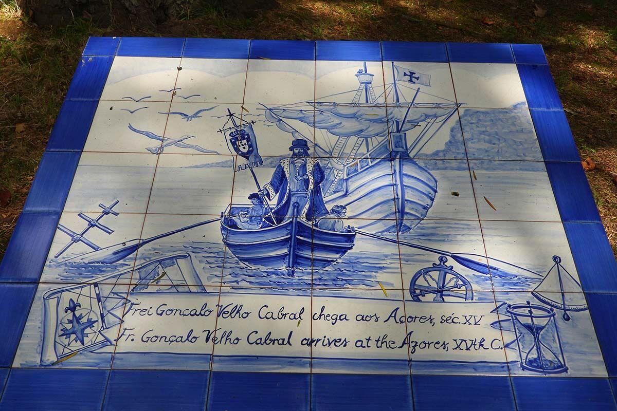Discovery of the Azores azulejos panel at Jardim José do Canto in Ponta Delgada