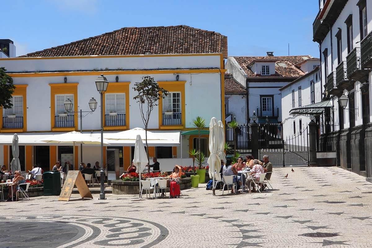 Largo da Matriz town square in Ponta Delgada
