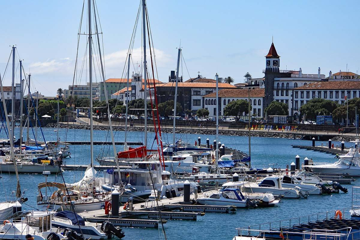 Ponta Delgada city in the Azores